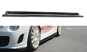 Диффузоры порогов накладка тюнинг Fiat 500 ABARTH MK1