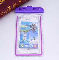 Водонепроницаемый чехол для телефона 6 дюймов с пластиковой застежкой. Фиолетовый