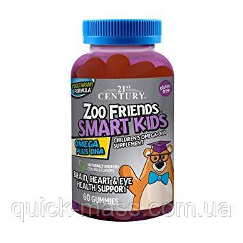 Омега-3 Дитяча 21st Century Zoo Friends Smart Kids Omega DHA 60 gummies