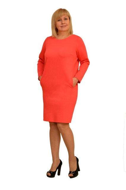 "Платье Dimoda ""Габи"" корал — Модель 1230-2  42 размер"