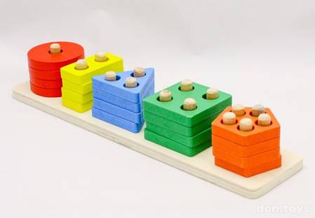 Деревянная логическая игра Геометрика, фото 2