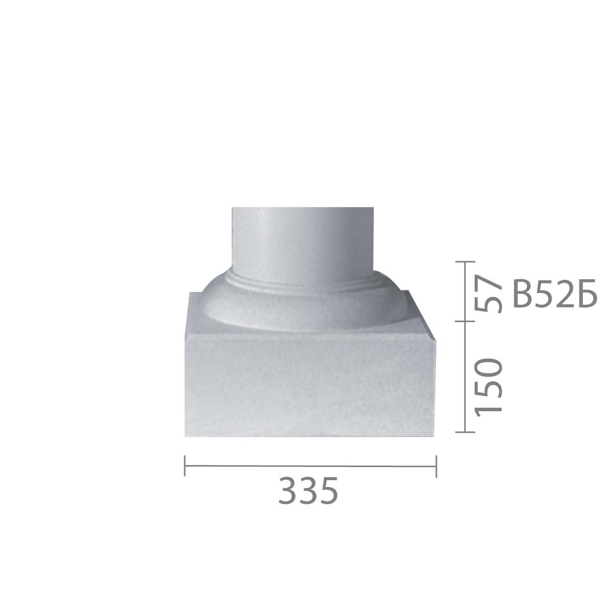База колонны из гипса, гипсовая база, основание для колонны б-52 (1/2)