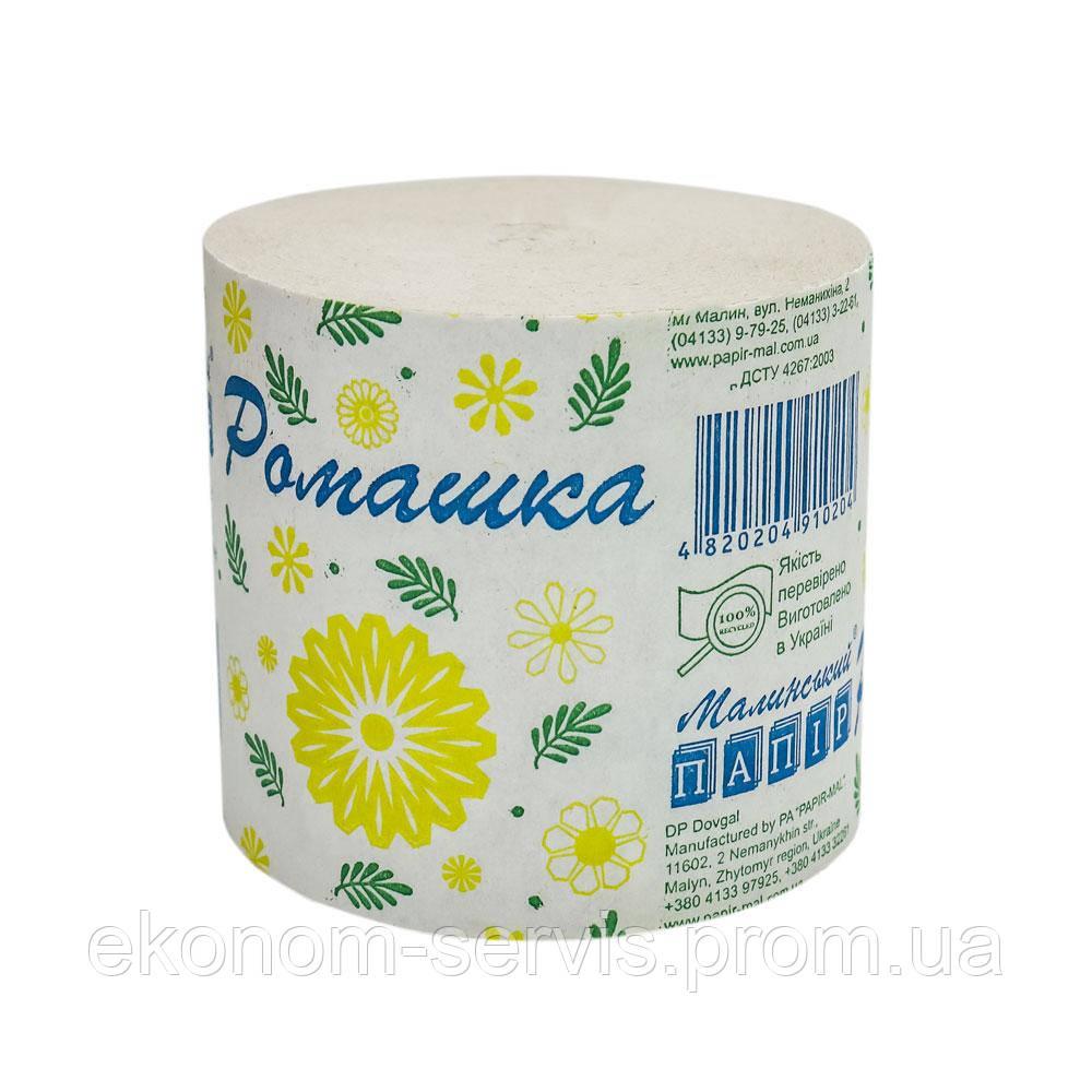 Туалетная бумага Малинская Ромашка 1 слой, 40м