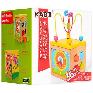 Деревянная игрушка Развивающий куб, фото 2