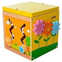 Деревянная игрушка Развивающий куб, фото 3