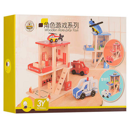 Деревянная игрушка Пожарная станция, фото 2