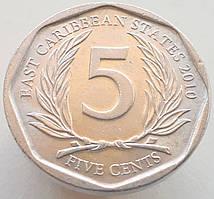 Східні Кариби 5 центів 2010