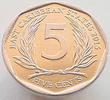 Східні Кариби 5 центів 2015