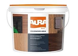 Декоративно-защитное средство для древесины Aura Colorwood Aqua Бесцветный 9л
