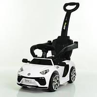 Детская машинка-толокар электромобиль 2 в 1 Lamborghini M 3591 L-1, белая