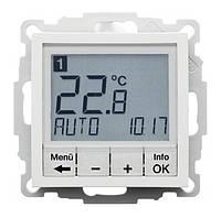 Регулятор температуры с часовым механизмом 250В Berker S.1/B.3/B.7 Полярная Белизна Матовая (20441909)