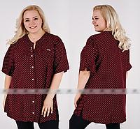 Рубашка в горошек летняя, с 52-66 размер, фото 1