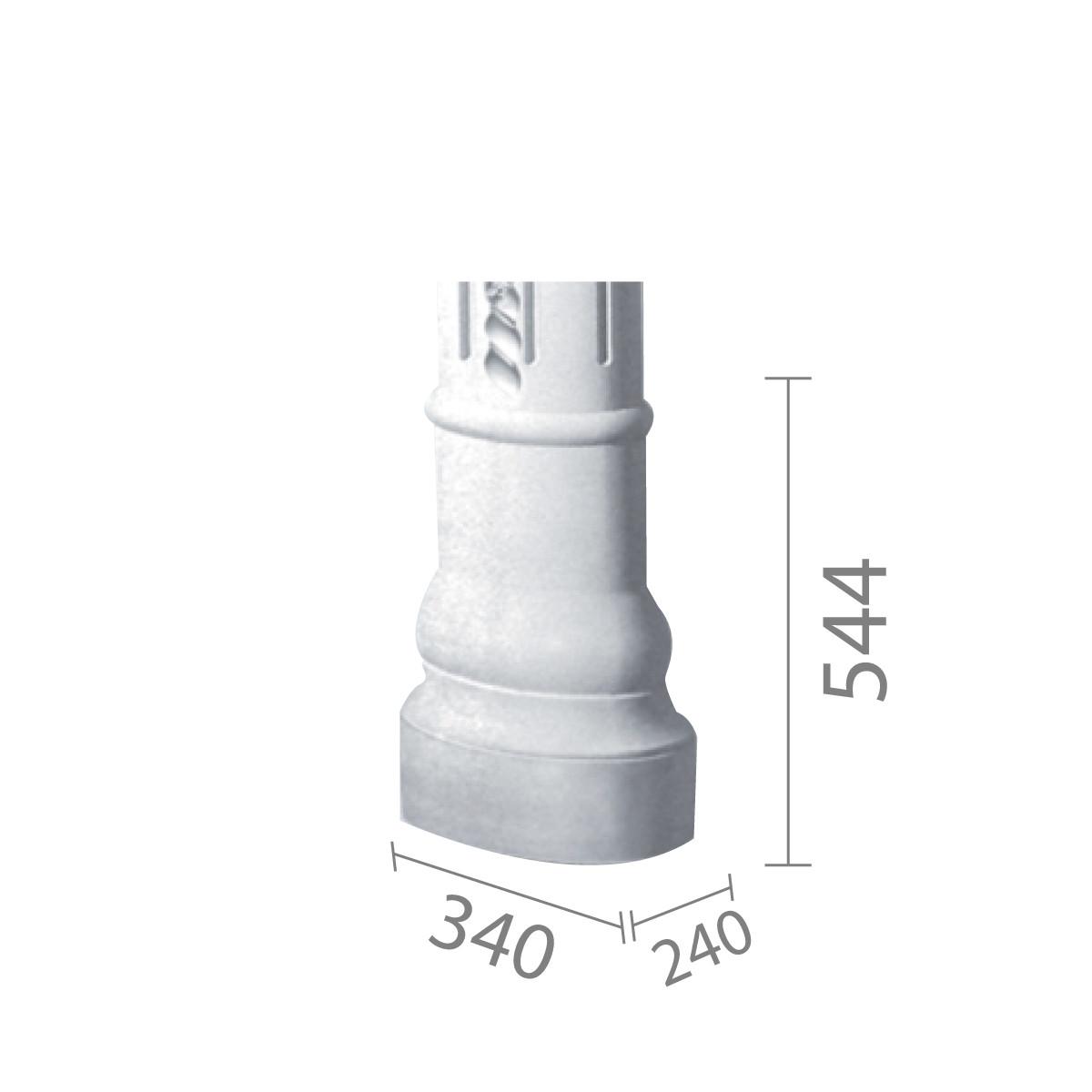 База колонны из гипса, гипсовая база, основание для колонны б-58 (1/2)