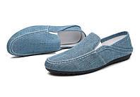 43 размер Мокасины летние темно.синий