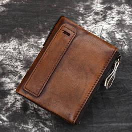 Мужское портмоне из натуральной кожи. Модель 701