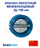 Клапан обратный межфланцевый 2-створчатый Ду 100 мм