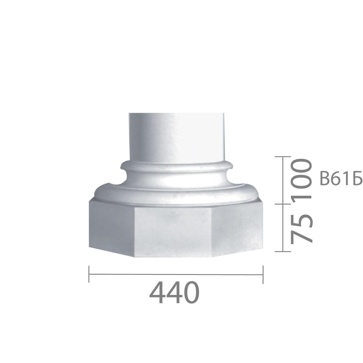 База колони з гіпсу, гіпсова база, основа для колони б-61 (1/2)