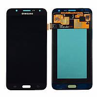 Дисплей для Samsung J700H Galaxy J7 (2015) с тачскрином черный, Оригинал Amoled