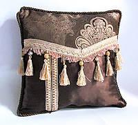 Коллекционная декоративная подушка Золотой кофе-2 эксклюзив люкс