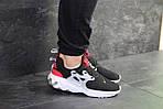 Мужские кроссовки Nike Presto React (черно-бело-красные) , фото 2