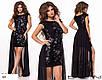 Платье длинное вечернее короткое сетка+масло+шифон 42-44,44-46, фото 2