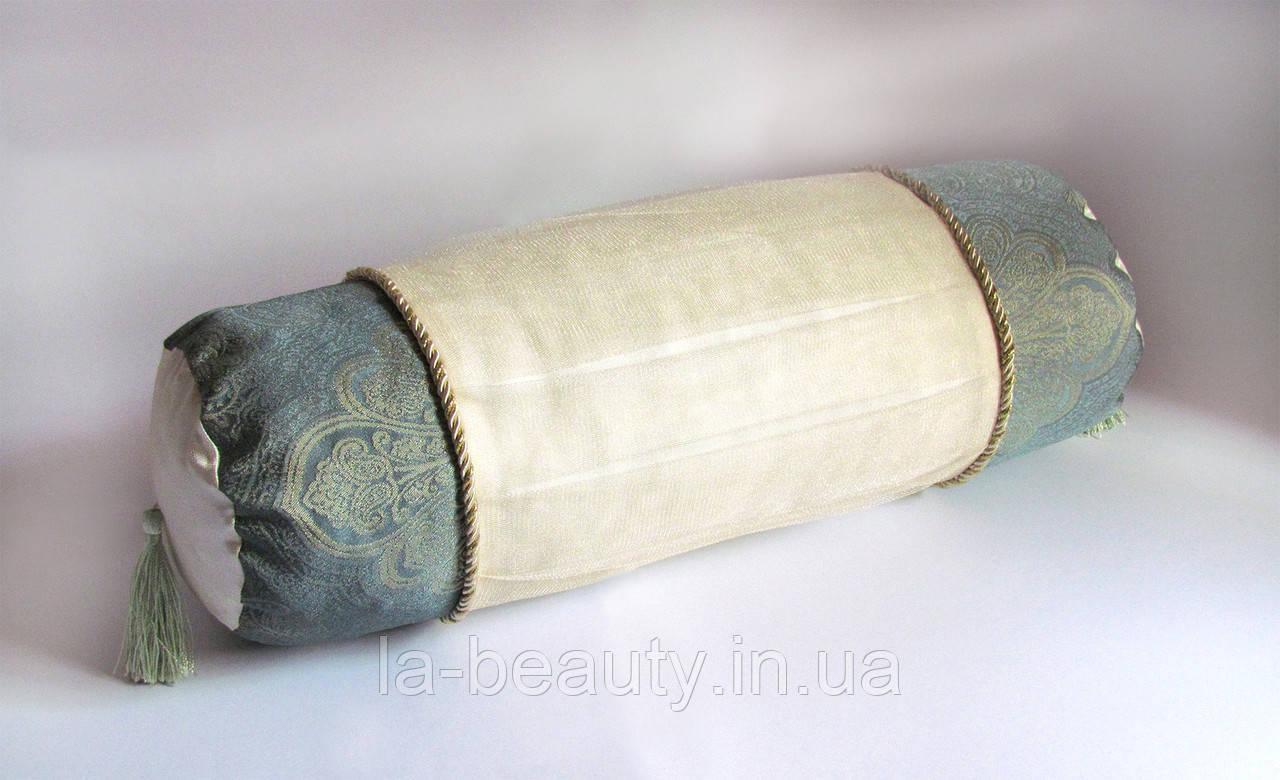 Декоративная подушка-валик Золотая мята эксклюзив