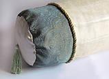 Декоративная подушка-валик Золотая мята эксклюзив, фото 2