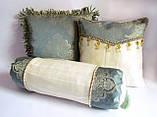 Декоративная подушка-валик Золотая мята эксклюзив, фото 3