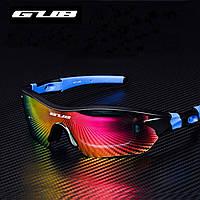 Спортивные поляризационные солнцезащитные очки GUB 5300 со сменными линзами и защитой UV400