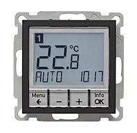 Регулятор температуры с часовым механизмом 250В Berker B.3/B.7 Антрацит (20441606)