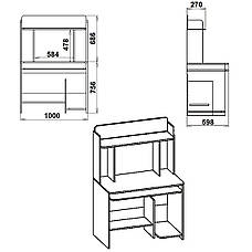 СКМ-6 Стол компьютерный, фото 3