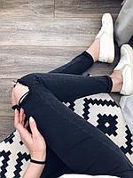 Черные женские джинсы SLIM