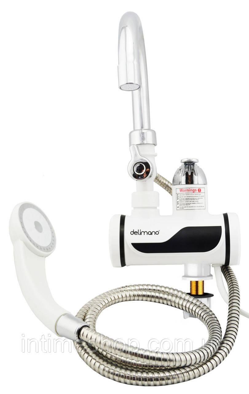 ✅ Нагреватель воды на кран, проточный водонагреватель с душем, MP 5208, кран с подогревом воды