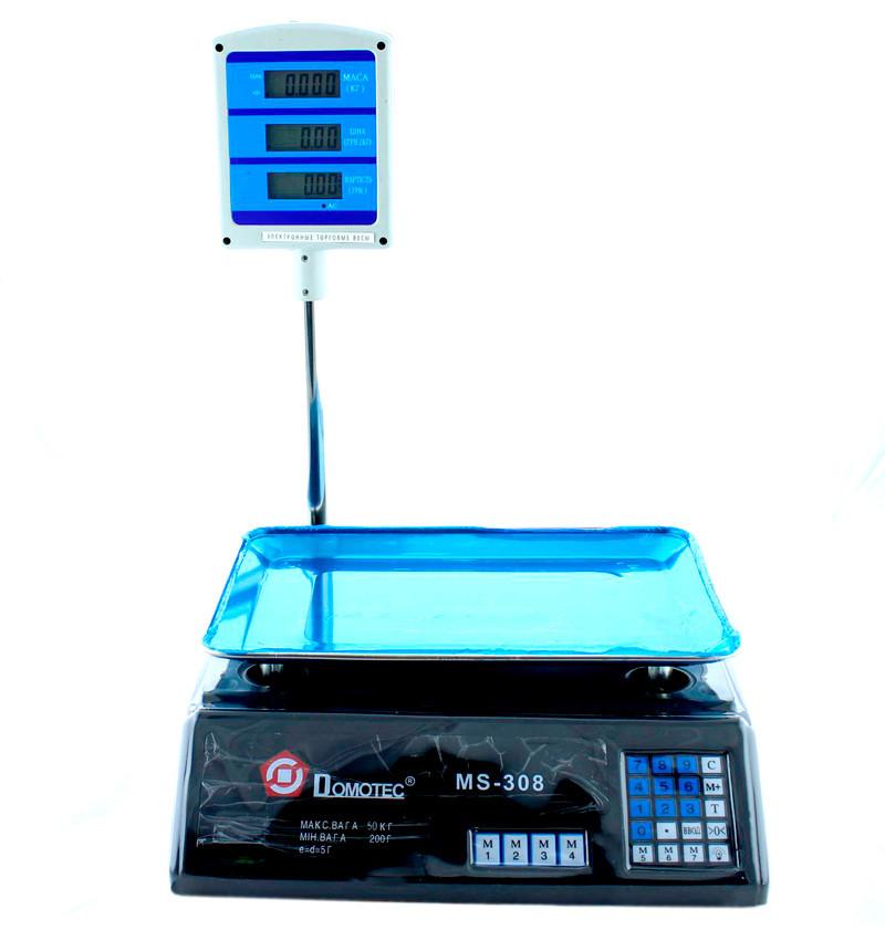 Торговые весы, Domotec MS-308, это, точные, весы товарные, Черные, электронные весы для продуктов