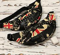 Поясная сумка, бананка, сумка на пояс Nike, цвет черный + принт, фото 1