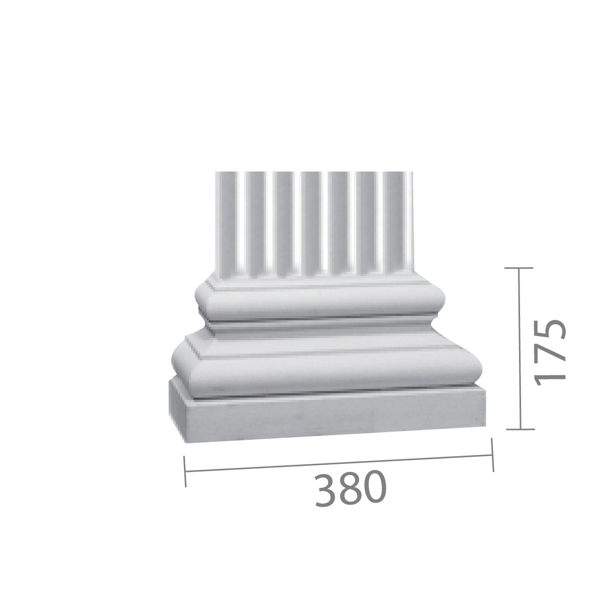 База колонны  б-69 (пилястра)