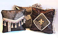Коллекция (набор) декоративных подушек Золотой кофе VIP эксклюзивные дизайнерские подушки