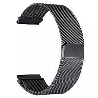 Металлический ремешок для смарт часов, 22 mm (Черный), фото 1