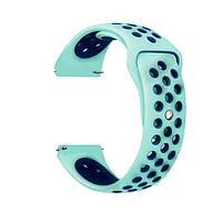 Силиконовый ремешок для смарт часов, 22 mm (Голубой), фото 1