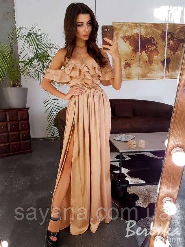 женское элегантное платье в пол