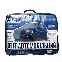 Тент автомобильный с подкладкой, размер М, чехол на авто, тент защитный, водоотталкивающий, для джип, минивен