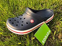 Кроксы мужские Crocs. Летние сабо, сандалии темно-синего цвета.ТОП КАЧЕСТВО !!! Реплика, фото 1
