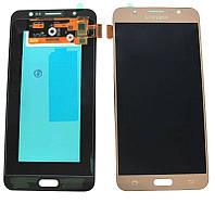 Дисплей для Samsung J710F Galaxy J7 (2016) с тачскрином золотистый, Оригинал Amoled