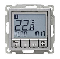 Регулятор температуры с часовым механизмом 250В Berker B.3/B.7 Алюминий (20441404)