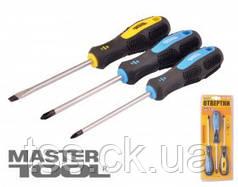 MasterTool  Набор отверток 3 шт (PH1*100, 2*100, SL5*100), Арт.: 40-1504