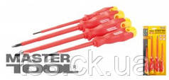 MasterTool  Набор отверток диэлектрических 4 шт (PH1*80, 2*125, SL 3*100, 5.5*125), Арт.: 40-1500