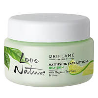 Матирующий крем-флюид для лица с органическим чайным деревом и лаймом Love Nature от Орифлейм