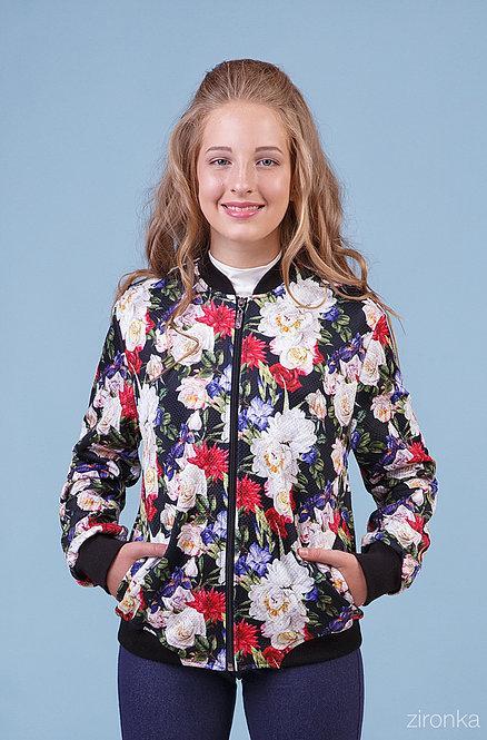 Куртка-Бомбер для девочки р.134-146 Zironka 48-8015-3