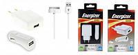 Зарядное устройство Energizer СЗУ USB + АЗУ USB  + кабель для Apple iPhone 4/4S 1A (31UEUCIP2)