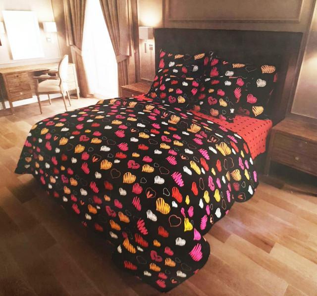 Комплект постельного белья семейный, ранфорс на резинке
